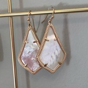 Kendra Scott Alex Earrings Rose Gold Ivory Pearl